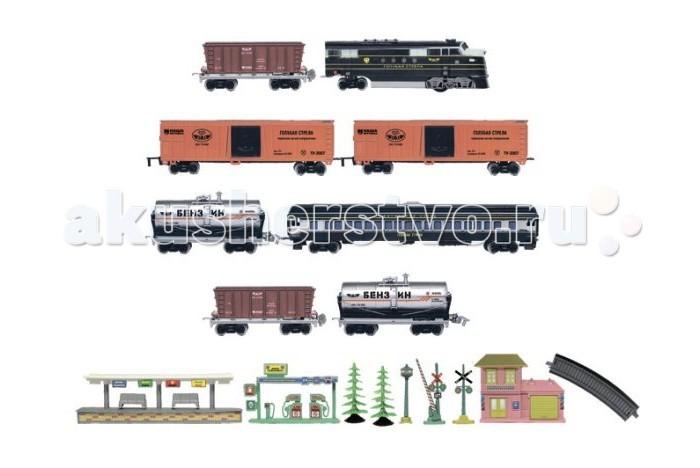 Железные дороги Голубая стрела Тепловоз с семью вагончиками 449 см 87127