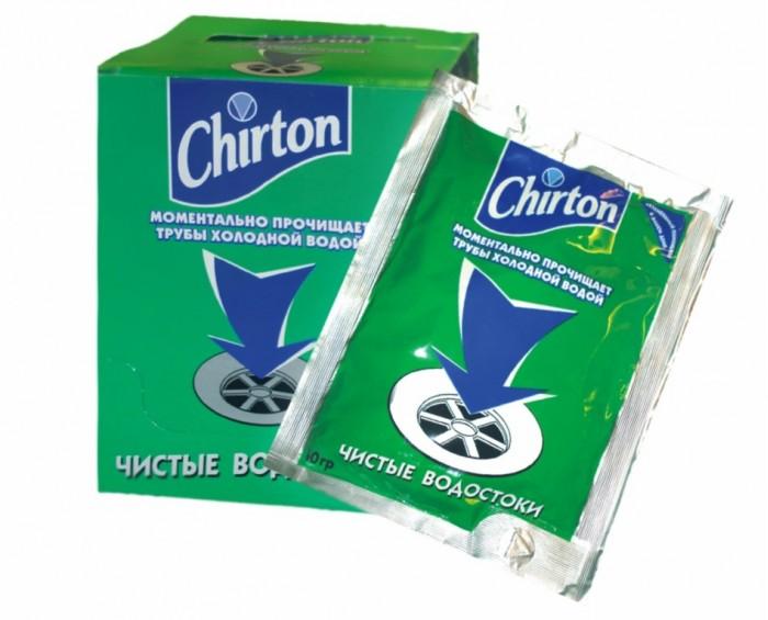 Chirton Для моментальной прочистки канализационных труб холодной водой порошок 60 гр