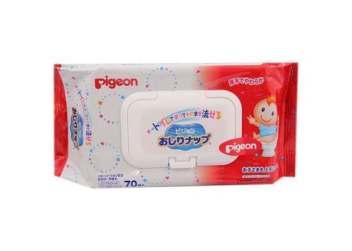 Pigeon Детские влажные гигиенические салфетки мягкая упаковка с клапаном 70 шт.