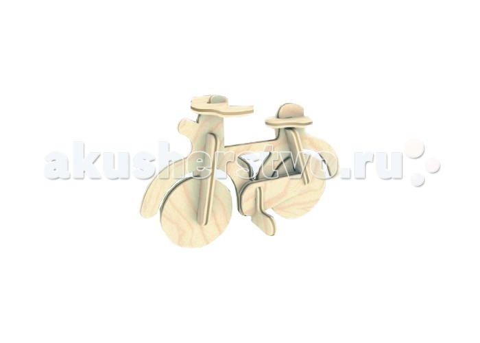 Конструктор МДИ Сборная модель Велосипед Б28Сборная модель Велосипед Б28Сборная модель МДИ Велосипед Б28  Объемный 3D пазл из экологически чистого дерева, содержит бесклеевые соединения. При склеивании модели получается замечательная игрушка, которую к тому же можно разукрасить красками.   Сборные деревянные модели направлены на развитие логики, внимания, усидчивости и ощущения трехмерной формы.<br>