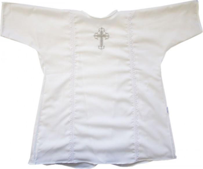 Папитто Крестильная рубашка для мальчика - ПапиттоКрестильная рубашка для мальчикаКрестильная рубашечка для мальчика Папитто  Материал: микрошелк Длинна: 50 см.<br>