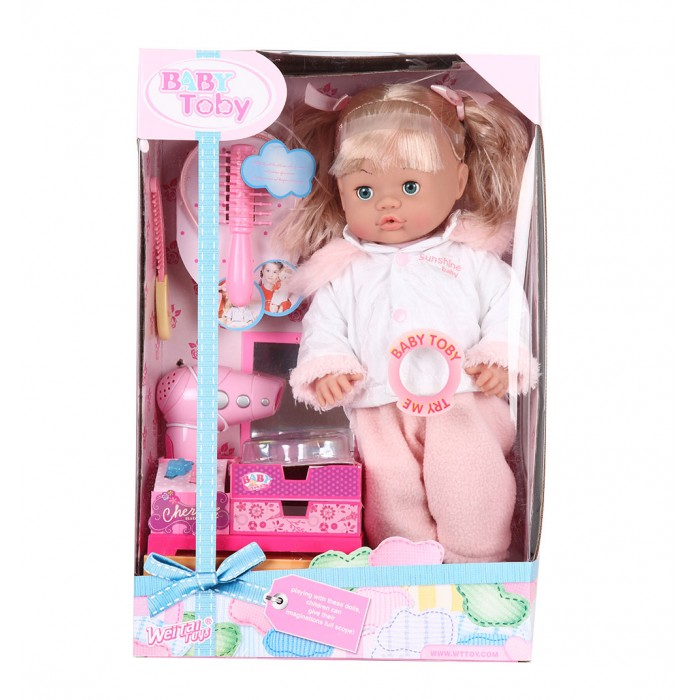 Wei Tai Toys Кукла в наборе с аксессуарами 39 см на батарейках wttt5944Кукла в наборе с аксессуарами 39 см на батарейках wttt5944Wei Tai Toys Кукла в наборе с аксессуарами 39 см на батарейках wttt5944  Эта очаровательная кукла приведет в восторг любую малышку! Ваша малышка больше не будет скучать, ведь вместе с этой куклой она сможет придумать множество увлекательных развлечений.  Высота куклы: 39 см<br>