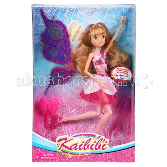 Kaibibi Кукла с аксессуарами 28 см k-BLD026-2Кукла с аксессуарами 28 см k-BLD026-2Kaibibi Кукла с аксессуарами 28 см k-BLD026-2  У куклы Kaibibi длинные вьющиеся волосы цвета, которые можно расчесывать. Она одета в короткий топ, пышную короткую юбку и прозрачные колготки с блестками. За спиной у куклы большие крылья, как у бабочки, а на ногах — изящные туфельки на каблуке. Все это вместе делает Kaibibi похожей на фею. Руки и ноги куклы подвижные, они могут сгибаться с локтях и коленях.  Высота куклы: 28 см<br>