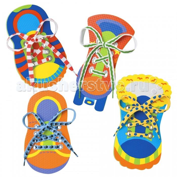 Развивающая игрушка Alex Развивающая игрушка Завяжи шнуркиРазвивающая игрушка Завяжи шнуркиНабор Завяжи шнурки - веселая развивающая игра для малышей. Помогает развить мелкую моторику и научить ребенка завязывать шнурки. В наборе: 4 игрушечных ботинка из полимерных материалов с отверстиями для шнуровки 4 ярких шнурка.<br>