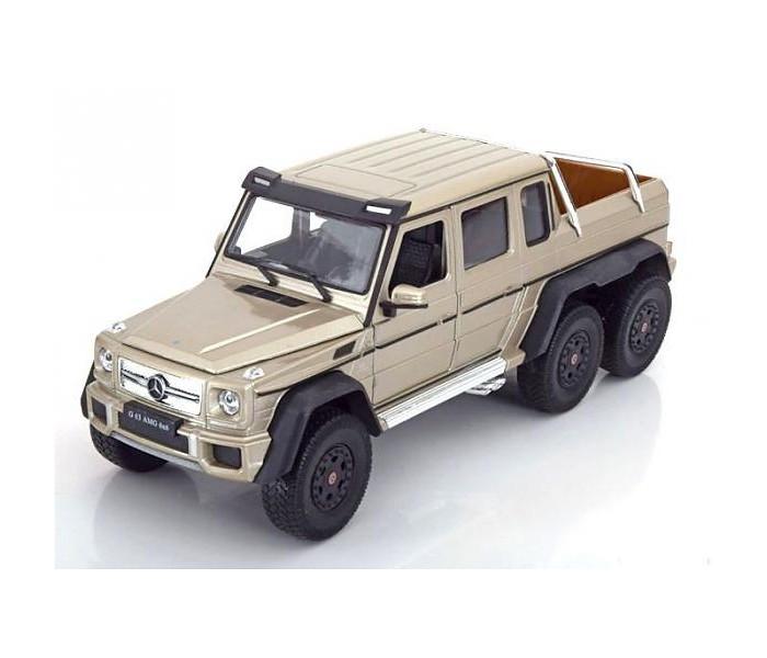 Welly Модель машины 1:24 Mercedes-Benz G63 AMG 6x6Модель машины 1:24 Mercedes-Benz G63 AMG 6x6Welly Модель машины 1:24 Mercedes-Benz G63 AMG 6x6  Модель машины от Welly выполнена в точном соответствии с оригиналом.   Все модели машинок Велли очень точные, потому что создаются по лицензии автопроизводителя.   У машинки открывается капот и двери.  Масштаб - 1:24.<br>