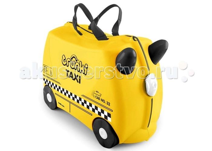 Trunki Детская каталка-чемодан Taxi Tony Тони таксистДетская каталка-чемодан Taxi Tony Тони таксистTrunki Taxi – новинка в серии детских чемоданов Trunki. Это заметный желтый чемодан стилизованный под такси. Чемодан-каталка Trunki Taxi для настоящих путешественников и покорителей мегаполисов. Taxi Tony - пунктуальный спутник в любой поездке и путешествии.  Особенности чемодана:  Перевозка и хранения игрушек и багажа; Веселое катание на чемоданчике; Отдых ребенка, когда родители просто катают его; Многофункциональный ручной буксировочный ремень; Ремни безопасности для плюшевого мишки; Две ручки для переноски; Секретные отсеки; Фиксаторы.  Основные характеристики:  Объем: 18 л Выдерживает до 45 кг веса Размеры чемодана: 46 х 20,5 х 31 см Вес: 1,7 кг<br>