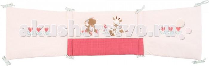 Бампер для кроватки Nattou Charlotte &amp; RoseCharlotte &amp; RoseБортик Nattou (Наттоу) Charlotte & Rose  Основные характеристики:  - универсальный мягкий бортик в изголовье кровати;  - украшен оригинальными аппликациями;  - нежные натуральные ткани;  - подходит для кроваток 120х60 см, 125х65 см и 140х70 см.<br>