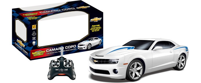 GK Racer Series Машина р/у Camaro Copo на батарейках 1:24Racer Series Машина р/у Camaro Copo на батарейках 1:24GK Racer Series Машина р/у Camaro Copo на батарейках 1:24 866-2410  Радиоуправляемая машина GK Racer Series Chevrolet Camaro COPO 1:24 866-2410 может ехать вперед, назад, вправо, влево. Ее корпус изготовлен из прочной пластмассы. Игра с моделью не только развлекает ребёнка, но и вырабатывает такие практические качества, как ловкость и слаженность движений рук, сноровку и координацию, развивает мелкую моторику пальцев рук, заставляет подвигаться и пофантазировать.<br>