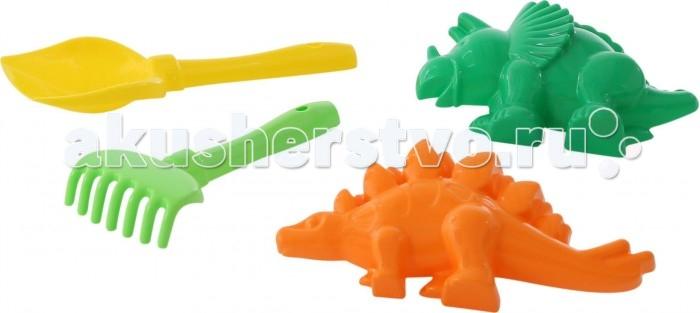 Полесье Набор для песочницы №564Набор для песочницы №564В набор для песочницы № 564 входит самое необходимое для веселой игры в песке. Лопатка №5, грабельки №5, формочки (динозавр №1 + динозавр №2).  Все предметы выполнены из безопасного для детей пластика.  Игры в песке развивают воображение, фантазию, мелкую моторику рук. Отлично поднимает настроение малышам.<br>