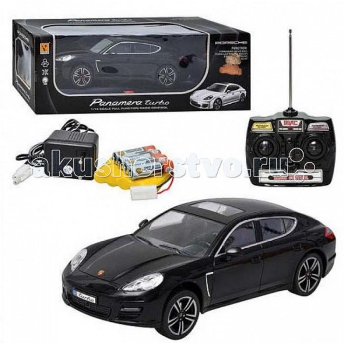 GK Racer Series Машина р/у Porsche Panamera Turbo на батарейках 1:14Racer Series Машина р/у Porsche Panamera Turbo на батарейках 1:14GK Racer Series Машина р/у Porsche Panamera Turbo на батарейках 1:14 866-1406B  Машина Porsche Panamera Turbo является детализированной копией реального автомобиля. Игрушка управляется с помощью дистанционного пульта и работает на аккумуляторе. Модель может достигать довольно высокой скоростью, обладает хорошими маневренными свойствами: может двигаться в разные стороны, а также имеет задний привод. Передние фары и задние габариты при движении подсвечиваются. Колеса игрушки прорезиненные, как и у настоящей машины, а салон просматривается сквозь прозрачные окна. Модель выполнена в масштабе 1:14 и имеет длину около 34 см.<br>