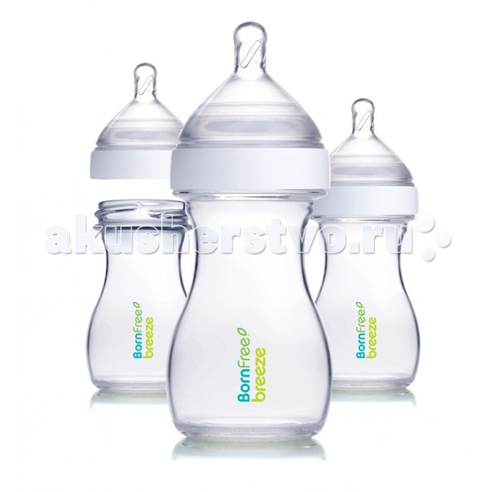 Бутылочка BornFree Breeze пластик 150 мл 3 шт.