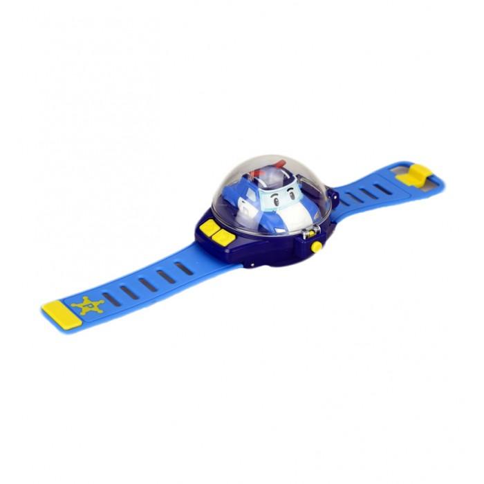Robocar Poli Часы с мини машинкой на ДУЧасы с мини машинкой на ДУПульт управления в виде часов надевается на руку. Игрушка работает от 2-х батареек ААА. Простое управление: Поворот; Вперед; Назад. Материал - абсолютно безопасный высококачественный упругий пластик, который почти невозможно повредить.  Основные характеристики:   Размеры упаковки: 18 x 6 x 24 см Размер циферблата: 7 х 8.5 см  Длина ремешка: 29 см Вес: 0,21 кг<br>