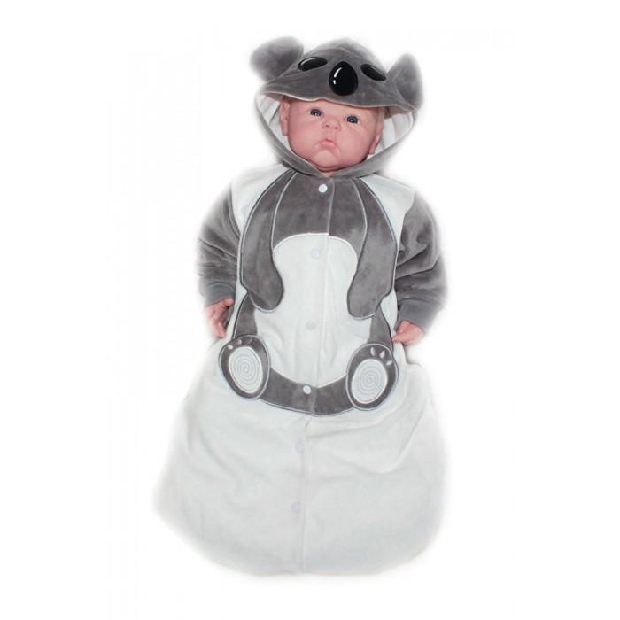 Осьминожка Конверт Коала В мире животныхКонверт Коала В мире животныхКонверт для новорожденных Коала размер 56 выполнен в серо-белой цветовой гамме и имитирует внешний вид коалы, который поднимет настроение не только вам, но и малышу.   Такая одежда станет отличным и просто незаменимым элементом гардероба, который подарит вашему малышу тепло и уют. Имеет удобные застежки-кнопки по всей длине, что облегчит переодевание малыша.  Капюшон имеет ушки, на передней его части он украшен изображением мордочки. На самом конверте, там, где будет находиться тело малыша, от шеи и до начала ножек изделие напоминает тельце животного.   Конверт для новорожденных выполнен из абсолютно качественного материала, который не вызывает аллергических реакций и раздражений на коже вашего малыша.   Верхняя часть изделия изготовлена из качественного велюра, который приятен коже, а подкладка сделана из интерлока.  Материал: высококачетсвенный велюр (состав: 80% хлопок, 20% п/э), на подкладке из интрелока (состав: 100% хлопок)  Уход: Ручная стирка при 30 гр.<br>