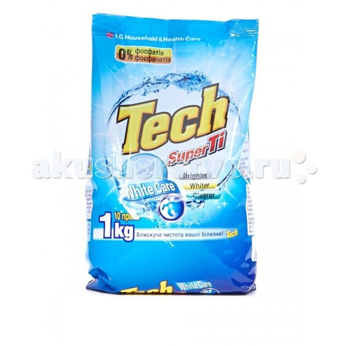 LG H&amp;H Стиральный порошок Tech Super Ti для белых вещей с отбеливателем 1 кгСтиральный порошок Tech Super Ti для белых вещей с отбеливателем 1 кгLG H&H Стиральный порошок Tech Super Ti для белых вещей с отбеливателем 1 кг разработан для стирки белого белья.   Благодаря активным компонентам (энзимам) удаляет пятна даже при низких температурах, не деформирует структуру волокон ткани.  Порошок хорошо выполаскивается с первого раза и не оставляет белых пятен на одежде. Порошок создает малое количество пены и обладает приятным ароматом. Подходит для любого типа стиральных машин и для ручной стирки.<br>