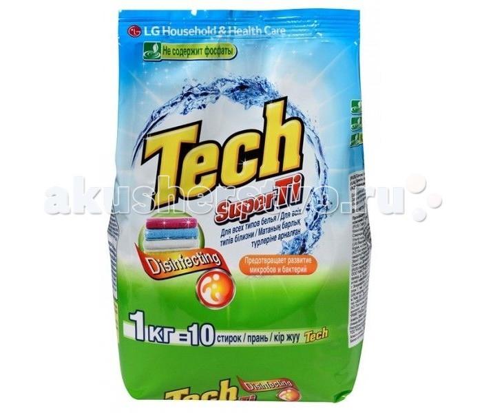 LG HH Стиральный порошок Tech Super Ti для белых и цветных вещей 1 кг
