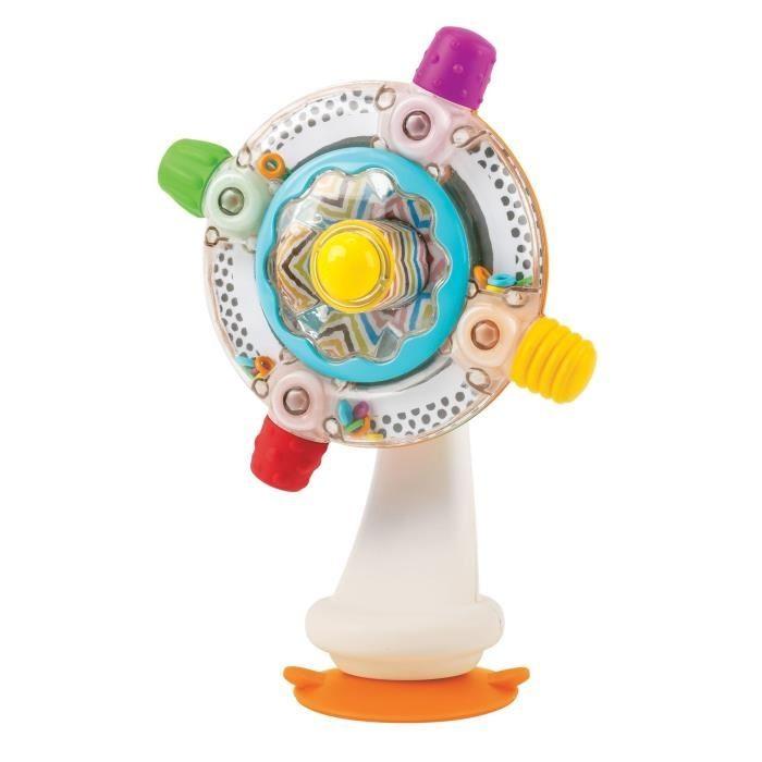 B kids Игрушка на присоске SensoryИгрушка на присоске SensoryB kids Игрушка на присоске Sensory 005180B  Игрушка на присоске Sensory – функциональная новинка 2016 года от бренда Bkids. Этот симпатичный «вентилятор», выполненный в бело-серебристой цветовой гамме с яркими дополнениями, прочно удерживается на любой ровной горизонтальной поверхности благодаря удобной присоске.   Диск «вентилятора» можно крутить, при этом раздаются звуковые эффекты.   Упакованная в красивую открытую коробку игрушка подойдет в качестве подарка для малышей, которым уже исполнилось 6 месяцев.<br>