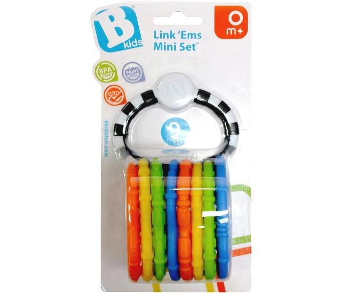 Прорезыватель B kids цепь Веселые колечки 9 шт.