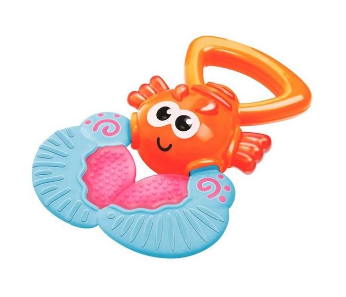 Прорезыватель B kids Веселый лобстерВеселый лобстерB kids Прорезыватель Веселый лобстер 004886B  Игрушка «Веселый лобстер» - это забавный прорезыватель с удобной ручкой для захвата и массажером десен.   Яркий обитатель морских глубин обязательно придется по вкусу малышу. Причем, в прямом смысле этого слова: благодаря специальной ручке игрушку легко захватывать маленькой рукой и нести ко рту. А рельефные поверхности клешней с разной текстурой массажируют десны и облегчают зуб во время прорезывания зубов.   Пластиковая игрушка легко моется. Лобстер сделан из безопасных материалов, не содержит BPA.   Размеры игрушки: 9,5х13,5х2,5 см.   Подходит для детей с рождения.<br>