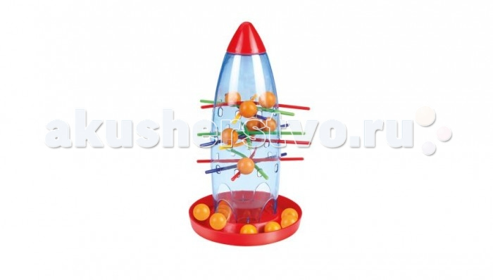 Академия развивающих игр Настольная игра Неизвестная ракетаНастольная игра Неизвестная ракетаАкадемия развивающих игр Настольная игра Неизвестная ракета , развивающая логику, умение концентрироваться, образное и пространственное мышление.  Правила игры: Игрокам нужно аккуратно извлечь из разгерметизированной ракеты как можно больше обломков астероидов (шпажки), чтобы инопланетные путешественники (пластмассовые шарики) не рухнули вниз. Для этого сначала надо установить ракету и просунуть в отверстия цветные шпажки-астероиды. Затем в ракету надо высыпать шарики, которые символизируют инопланетных путешественников. Шарики не должны упасть со шпажек, если все сделано правильно, то можно закрывать носовую часть ракеты и приступать к игре. В ходе игры у каждого участника есть свой цвет, в соответствии с этим цветом игроки по очереди вынимают шпажки. Тот игрок, у которого падает шарик - получает штрафное очко. Побеждает тот, у кого набрано наименьшее количество штрафных очков. Дополнительно: усложненные правила для супер-агентов! Игра предназначена для детей от 3 лет. Количество игроков: от 1 до 4 человек.  В комплекте: 15 пластмассовых шариков; Ракета (4 составные части); 20 шпажек четырех цветов; Инструкция.<br>