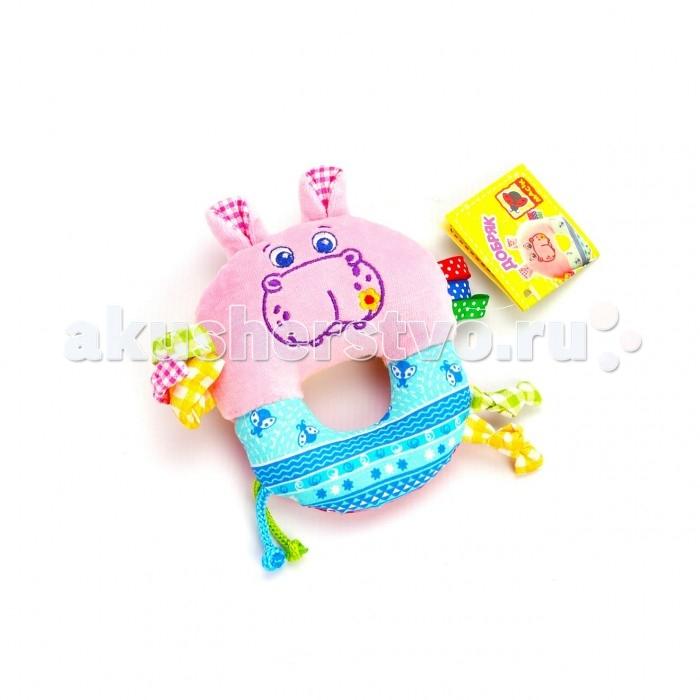 Погремушка Macik кольцо Зоо Бегемот Добряккольцо Зоо Бегемот ДобрякПогремушка-кольцо Зоо Бегемот Добряк - Гремящая и шелестящая игрушка-погремушка.  Особое внимание привлекут завитки – их можно растягивать, а сбоку вшиты разноцветные петельки. Мягкая, легкая, приятная на ощупь игрушка абсолютно безопасна для малыша.<br>
