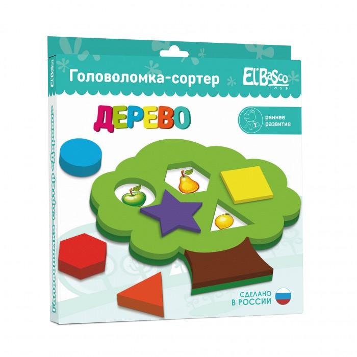 Сортер ElBascoToys Головоломка ДеревоГоловоломка ДеревоБлагодаря головоломке-сортеру ребенок познакомится с различными формами и цветами.  Задача – подобрать для определенной геометрической фигуры соответствующее ей отверстие. Классификация, или сортировка – это важный навык, которому должен научиться ребенок.  Играя, малыш развивает моторику, логику и мышление, тактильное и цветовое восприятие, воображение.   Размер изделия: 220 х 220 х 23<br>