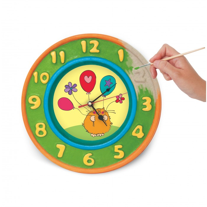 Шар-папье Набор для творчества ЧасыНабор для творчества ЧасыШар-папье Набор для творчества Часы   Создай настенные часы по своему вкусу. Можно использовать готовые рисунки-вставки или придумать свой дизайн. Такие часы будут прекрасным украшением детской.  В комплекте: заготовка из прессованной бумажной массы 2 вставки-раскраски часовой механизм краски кисть<br>