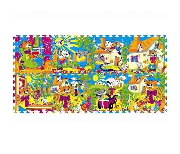 Игровой коврик Играем вместе Дисней Коврик-пазл Кот Леопольд 8 сегментов