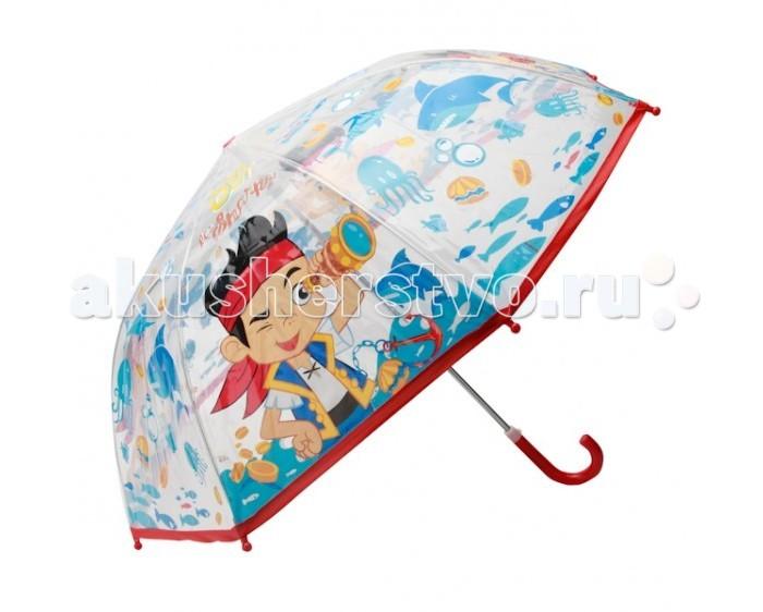 Детский зонтик Играем вместе Дисней Пират Джейк прозрачныйДисней Пират Джейк прозрачныйДетский зонтик Играем вместе Дисней Пират Джейк прозрачный собственный зонт для прогулок в дождливую погоду.   Материал каркаса ветроустойчивый, обладает особой прочностью металла и стойкостью полимера, при этом легкий и долговечный, а концы спиц снабжены пластмассовыми наконечниками для защиты от травм.<br>
