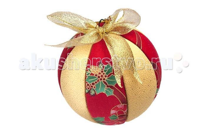 Волшебная мастерская Набор для творчества Кинусайга Новогодний шар большойНабор для творчества Кинусайга Новогодний шар большойВолшебная мастерская Набор для творчества Кинусайга Новогодний шар большой КН-Ш2  Кинусайга - особый вид пэйчворка, не требующий использования иглы. В комплекте вы найдете материалы, необходимые для создания изящного новогоднего украшения - небьющегося шарика диаметром 10 см. Сам шарик состоит из пенопласта, а на нем требуется закрепить выкроенные тканевые детали. У вас получится уникальный аксессуар, которым можно украсить елочку, рождественский венок или настольную композицию. Такой шарик станет отличным подарком близким, ведь создавая красоту своими руками, вы вкладываете в изделие тепло и любовь.  Комплект: пенопластовый шар, ткань для печворка 2-х цветов, гвоздики-булавки, декоративный шнур, проволока, инструкция, выкройка, зубочистки, синтетические нити.  Диаметр шара: 10 см.<br>