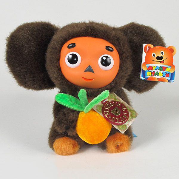 Интерактивные игрушки Мульти-пульти Мягкая игрушка Чебурашка с апельсином