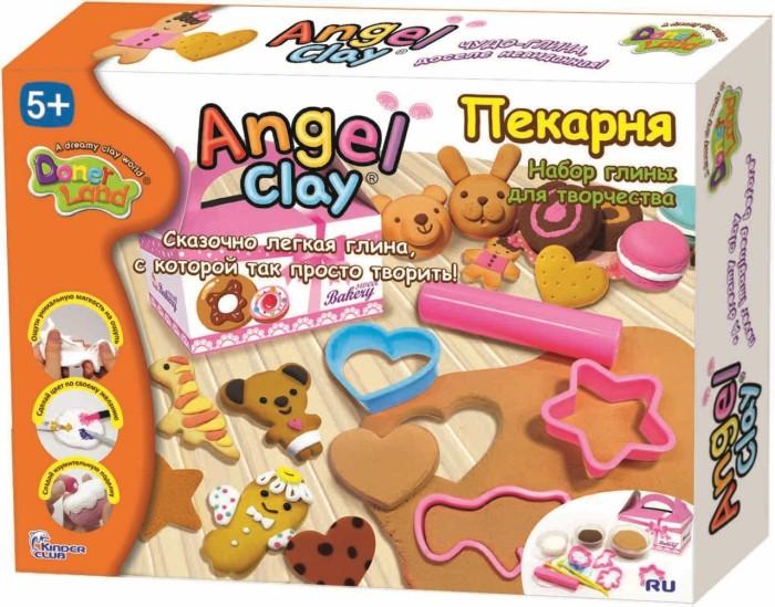 Angel Clay Масса для лепки ПекарняМасса для лепки ПекарняAngel Clay Масса для лепки Пекарня АА10121  Творить с Angel Clay одно удовольствие - ангельская глина принимает любую текстуру, позволяя создавать детализированные фигурки. Специальные формочки набора Angel Clay Пекарня помогут каждому ребенку слепить свои собственные печеньица и кренделечки, отличить которые от настоящих можно будет только по размеру!  Ангельская глина легко принимает любой цвет. Просто замесите ее как тесто с красителем на водной основе: фломастером, шариковой ручкой или гуашью. Пока ангельская глина мягкая, детальки из нее легко скрепляются между собой. Для некоторых поделок необходимо сначала высушить детальки и потом склеить их обычным канцелярским клеем.  Когда ребенок вдоволь наиграется своей поделкой, ангельскую глину можно сбрызнуть водой и немного подождать. Ангельская глина размягчится и ребенок сможет с радостью лепить из нее снова!  Действительно, Ангельская глина Angel Clay - инновация XXI века!<br>