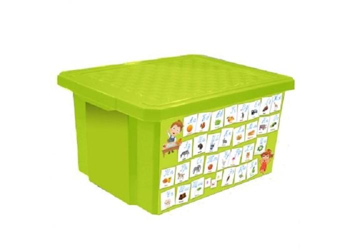 Little Angel Детcкий ящик для хранения игрушек X-BOX Обучайка Азбука 17 л