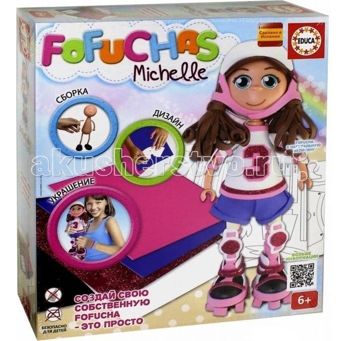 Educa Набор для творчества в виде куклы Фофуча МишельНабор для творчества в виде куклы Фофуча МишельНабор для создания куклы Fofucha позволит создать своими руками одну куклу по имени Мишель. Но чтобы Мишель получилась законченной и красивой, малышке нужно будет немного постараться. В этом наборе найдется множество интересных материалов, с помощью которых можно будет проявить креативность и творческое мышление. Помимо деталей самой куклы, в наборе присутствуют самоклеящиеся глаза, цветной картон, а также схемы сборки. Кукла Мишель может стать не только интересной игрушкой для девочки, но и откроет новый простор для творческой деятельности. Девочка сможет самостоятельно собрать себе новую куклу, которая станет не только интересной игрушкой, но будет служить напоминанием о небольшом личном достижении.  Комплектация набора:  Сборное тело куклы; 5 листов ЭВА; Скотч; Схемы; Картонные детали; Самоклеящиеся глаза и рот.  Основные характеристики:   Размер упаковки: 33.5 x 29.5 x 7.2 см Вес: 652 г<br>