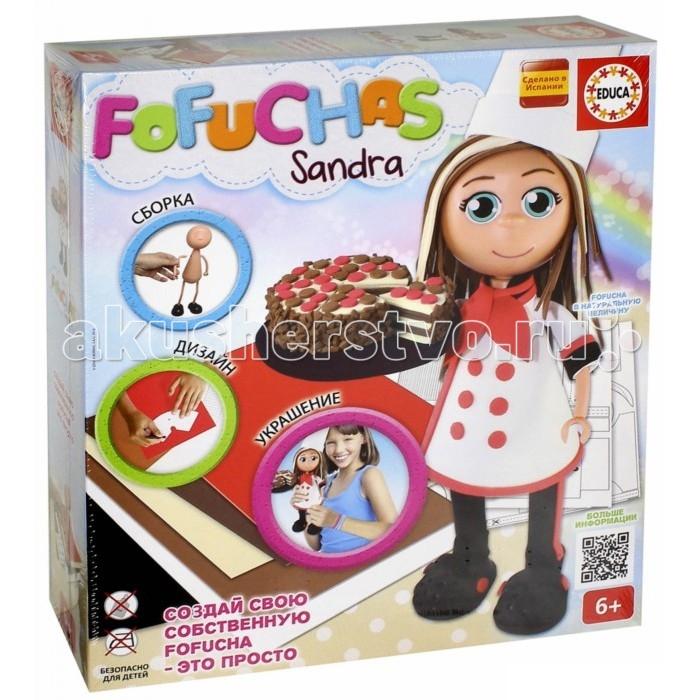 Educa Набор для творчества в виде куклы Фофуча СандраНабор для творчества в виде куклы Фофуча СандраНабор Fofuchas Сандра из серии Создай свою куклу от испанского производителя Educa предоставит ребенку возможность самому сделать себе игрушку. В комплект входит все для этого необходимое. Все действия по созданию ребенок будет производить сам, от сборки тела куклы, до создания одежды. Такое занятие приучит ребенка к усидчивости, поможет развить творческое и логическое мышление. В результате он получит приятную куклу Сандру с тортом в руках. Игрушку позднее можно будет использовать для игры или просто поставить на полку, чтобы любоваться результатом своего творчества.  Основные характеристики:   Размер упаковки: 38 x 30 x 7 см Высота куклы: 30 см<br>