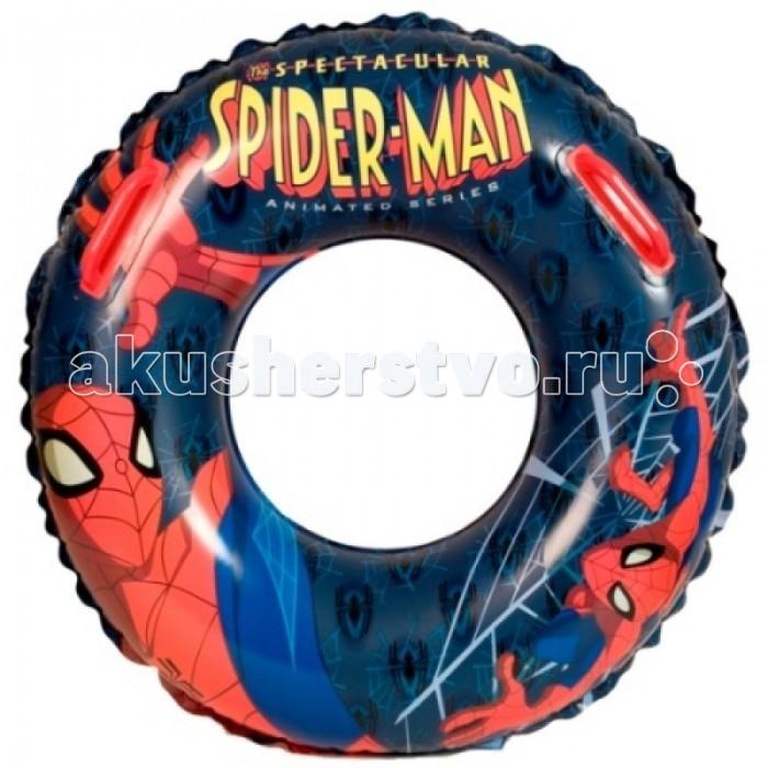HTI Большой плавательный круг Spiderman с ручкамиБольшой плавательный круг Spiderman с ручкамиДетский надувной круг Spiderman выполнен в яркой цветовой гамме с изображением любимого героя Человека-Паука. Круг изготовлен из высококачественных материалов и снабжен удобными ручками. Такой надувной круг станет незаменимым атрибутом летнего отдыха. Он отлично подойдет для детских игр в воде! С помощью надувного круга ваш ребенок быстро и без страха сможет научиться плавать и держаться на воде, а также весело проведет время.   Основные характеристики:   Размер упаковки: 19 x 19 x 4.5 см Диаметр: 63 см<br>
