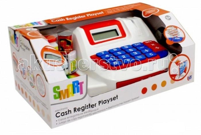 HTI Большая электронная Касса SmartБольшая электронная Касса SmartИгровой набор HTI Большая электронная касса Smart со звуковыми эффектами позволит малышу напрямую соприкоснуться с миром торгово-потребительских отношений.   С помощью этого набора ваш ребенок сможет научиться правильно вести себя в магазине и делать покупки. Порадуйте его таким замечательным подарком!  Основные характеристики:   Размеры: 12 x 28 x 17 см Вес: 558 г<br>