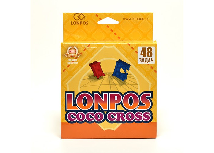 Lonpos Головоломка Coco Cross 48 задачГоловоломка Coco Cross 48 задачLonpos Головоломка Coco Cross 48 задач lonpos48  Совершенно новая и очень необычная головоломка Lonpos!   Всего 2 элемента необычной формы и конструкции - синий и красный. Внутри каждого блока размещены небольшие, но ощутимые грузы, которые добавляют игре тактильные ощущения и звук! Блоки сделаны очень качественно и интересно, их приятно держать в руках. 48 заданий на 24 карточках (18 более простых для красного блока и 30 усложненных для синего) различной сложности, идущие от очень простых к действительно сложным!   Прозрачное игровое поле. Карточка с заданием кладется под поле, так что сразу становится видно задание этой карточки - где старт и финиш, где препятствия которые нужно избегать.   Как играть?  Игрок выбирает карточку с заданием нужной сложности, кладет ее под игровое поле и располагает выбранный игровой блок на позиции Старт. Нужно дойти до Финиша, катая блок по игровому полю. Нельзя поднимать блок, можно только перемещать сохраняя касание с игровым полем - перекатами. Блок также нельзя перемещать под углом 90 градусов, прокручивать на основании, ставить на препятствия.   На карточке с заданием указан уровень сложности и количество ходов, за которое рекомендуется выполнить задание.<br>