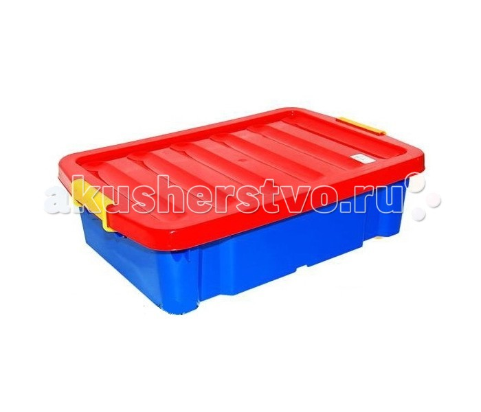 Радиан Ящик для хранения Jumbo 30 лЯщик для хранения Jumbo 30 лРадиан Ящик для хранения Jumbo 30 л поможет создать домашнюю атмосферу, где будет уютно всем членам семьи.   Крышка выполнена из пластика яркого цвета. Ручки по бокам позволяют плотно закрыть крышку, что гарантирует, что даже самые мелкие детали останутся на месте, а пыль, влага и грязь не попадут внутрь ящика. Складная крышка делает доступ к содержимому более легким, ведь ящик не нужно вытаскивать полностью. Материал достаточно прочный и безопасный даже для малышей и легко поддается чистке - достаточно просто протереть влажной тряпочкой.<br>