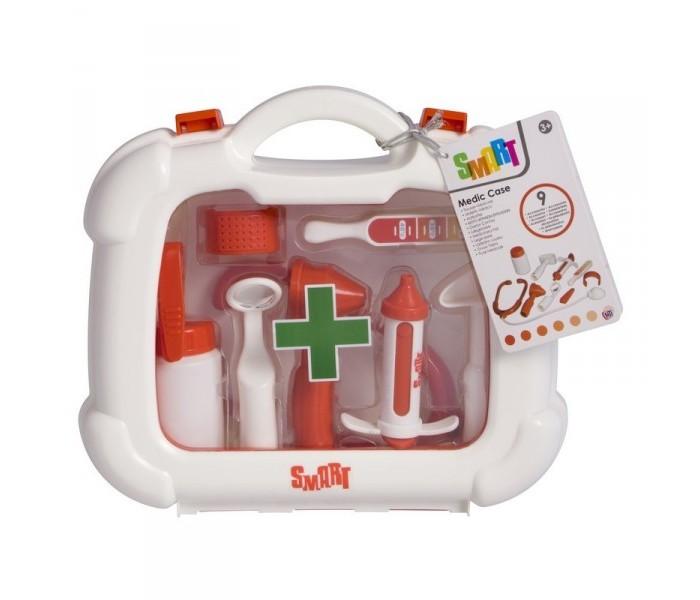 HTI Набор доктора в чемоданчике SmartНабор доктора в чемоданчике SmartИгровой набор доктора в чемоданчике Smart от HTI позволит малышу напрямую соприкоснуться с такой профессией как врач!   С помощью этого набора ваш ребенок сможет попробовать себя в роли врача, и узнать много нового о данной профессии.   Порадуйте его таким замечательным подарком! Содержит мелкие детали.    Не рекомендовано детям младше 3-х лет.   Основные характеристики:   Размер: 23.5 x 24.5 x 7.7 см Вес: 508 г<br>