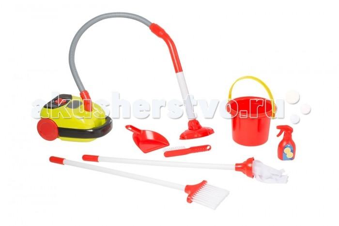 HTI Набор Тележка для уборки с пылесосом SmartНабор Тележка для уборки с пылесосом SmartНабор тележка для уборки с пылесосом Smart. В комплект входит пылесос с реалистичными звуковыми эффектами и прыгающими шариками, работающий от батареек, совочек и щёточка. Необходимы батарейки: 2xAA (в комплект не входят). Для детей от 3-х лет.  Основные характеристики:   Размеры: 45 x 41,8 x 14,7 см Вес: 2,07 кг<br>