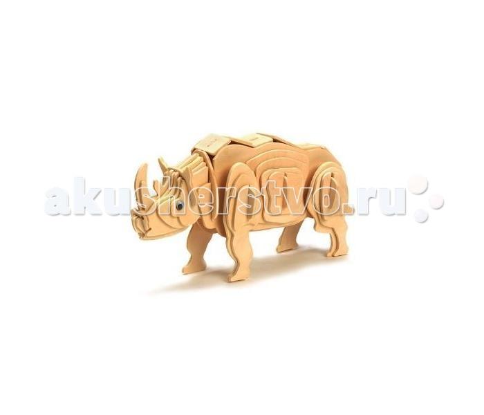 Конструктор Education Line 3D Деревянные Пазлы Животные Белый Носорог3D Деревянные Пазлы Животные Белый НосорогEducation Line 3D Деревянные Пазлы Животные Белый Носорог M018A  Деревянный 3D-пазл Белый носорог создан для маленьких любителей конструировать различные фигурки животных. Пазл состоит из множества различных деревянных деталей, которые крепятся без использования клея. Специальные пластиковые глазки приклеиваются к мордочке и делают фигурку законченной. В готовом виде фигурка носорога может занять достойное место на полке. Фигурку можно раскрасить фломастерами или красками, и тогда носорог буквально оживет в руках своего конструктора.<br>