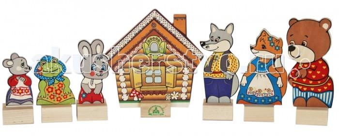 Деревянная игрушка Краснокамская игрушка Набор Персонажи сказки Теремок