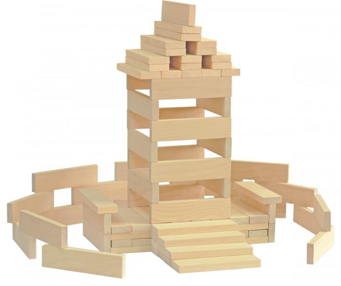 Конструктор Краснокамская игрушка Брусочки строительные 122 деталиБрусочки строительные 122 деталиКонструктор «Брусочки строительные» деревянный неокрашенный из 122 деталей. Это простой и в тоже время замечательный тренажер для развития детей от 1 года до 7 лет. В зависимости от возраста ребенка можно придумывать различные упражнения.   Например, для самых маленьких от года до трех можно строить простые конструкции – заборчики, лестницы. Так у ребенка будет формироваться навык пространственного ориентирования, он будет понимать, что такое – спереди, сзади, в середине, внутри, снаружи. Более старшему ребенку можно поручить разработать целые схемы построек, разбавлять их новыми деталями, обозначая на бумажной схеме. Так вы научите малыша конструированию, логике, разовьете творческие способности.  Каждый ребенок благодаря этому набору может испытать свои архитектурные способности, открыть свои дизайнерские навыки. Это отличный материал для воспитателей детских садов, которые могут увлечь им ребят на занятиях по конструированию.   Конструктор сделан из качественного обработанного дерева. Экологически чист и безопасен. По желанию вы можете раскрасить бруски, используя для этого акриловые краски. Детали конструктора «Брусочки строительные» можно объединить с другими фигурами.<br>