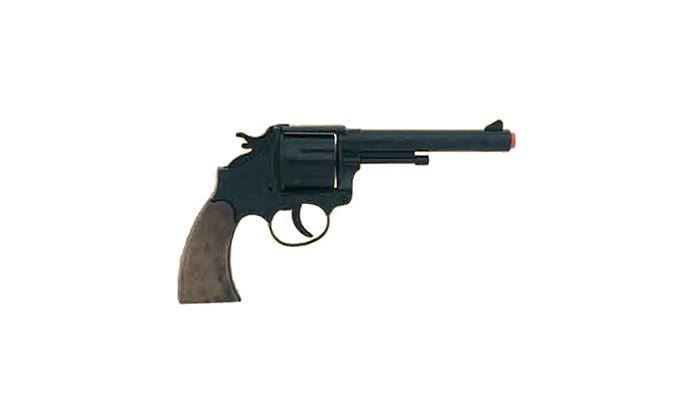 Gonher Игрушечное оружие Ковбойский револьвер на 12 пистонов черный