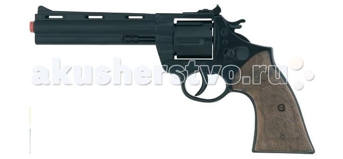 Gonher Игрушечное оружие Револьвер Police на 12 пистонов черный