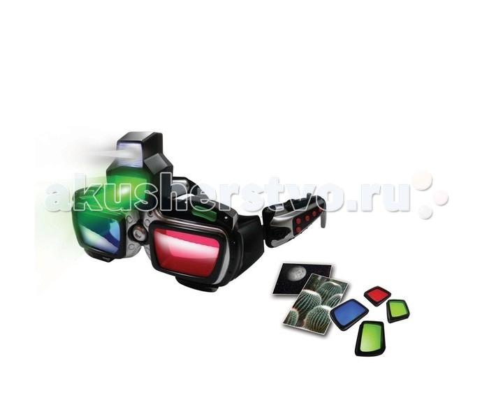 Eastcolight Набор шпиона 3D кибер-очкиНабор шпиона 3D кибер-очкиEastcolight Набор шпиона 3D кибер-очки  Стильные высокотехнологичные стерео-очки с подслушивающим устройством и радио для вашего супершпиона!  В наборе есть синяя и красная линзы.  В очках есть отсек для наушников с возможностью регулировки громкости подслушивания; переключатель режимов и отсек для батареек. В наборе также присутствуют 2 снимка 3D и наушники.  Возраст: от 7 лет Комплект: очки, линзы, USB кабель, 2 фотоснимка 3D, установочный CD. Наличие батареек: на батарейках.<br>