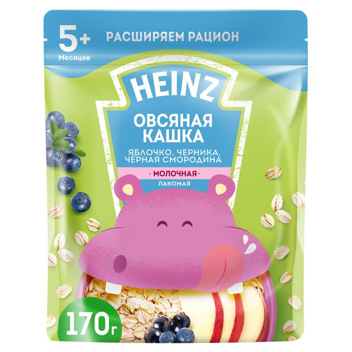 Heinz Молочная Лакомая овсяная каша яблоко,черника,черная смородина с 5 мес. 200 г