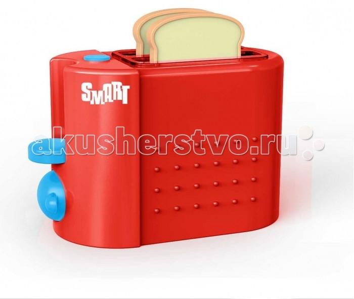 HTI Тостер Smart со звукомТостер Smart со звукомHTI Тостер Smart  С тостером Ваша дочка сама будет заниматься приготовлением румяных тостов. Тостер поможет ей почувствовать себя хозяйкой на своей игрушечной кухне и приготовить аппетитный завтрак для любимых кукол. При повороте ручки тостера, загорается свет. При нажатии на рычажки начинается веселое тиканье, которое продолжается до тех пор, пока тосты не выпрыгнут.    Размеры: 10 x 18.5 x 15 см Батарейки: 2x1,5V AG13/LR44 Возраст: от 3 лет<br>
