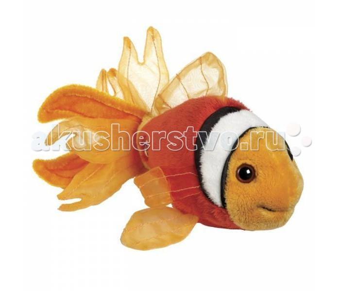 Мягкая игрушка Ganz Рыбка-Клоун 12,7 смРыбка-Клоун 12,7 смМягкая игрушка Ganz Рыбка-Клоун 12,7 см предназначена для любителей подводного мира. Рыбка выполнена из приятного на ощупь материала. Внутри игрушки имеется мягкий наполнитель. Роль глазок выполняют пластиковые бусины. Плавники и хвост рыбки выглядят невероятно правдоподобно за счет использованных материалов.    Это самая настоящая золотая рыбка. Она исполнит любое ваше желание в Мире Вебкинз!   Рекомендуемый возраст - от 3х лет.  Размер мягкой игрушки- 12,7 см<br>