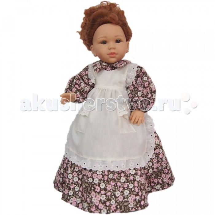 Paola Reina Кукла Долореc в коричнево-розовом платье 42 смКукла Долореc в коричнево-розовом платье 42 смКукла Paola Reina Долореc в коричнево-розовом платье  Кукла Долорес идёт в образе героини популярного в Испании сериала.    Особенности:   с длинными ярко-рыжими вьющимися волосами (прошиты, можно распустить);  в ушках у кукол - серёжки;   уникальный дизайн лица, ручная работа при изготовлении ресниц, веснушек, щечек, губ, прически;   детали лица тщательно проработаны;   «ямочки» на коленках;   на пальчики рук можно одевать колечки;   руки, голова и ноги - подвижны;   глаза куклы не закрываются;   имеет нежный ванильный аромат (гипоаллергенна)    Качество подтверждено нормами безопасности EN17 ЕЭС.   Материалы: кукла изготовлена из винила, глаза выполнены из прозрачного твердого пластика, волосы сделаны из высококачественного нейлона.   Высота: 42 см<br>